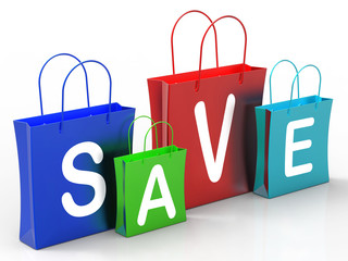 Save On Shopping Bags Shows Bargains And Promotions