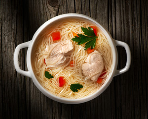 soup with chicken and pasta