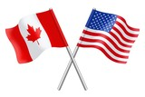 Flags : Canada and United States