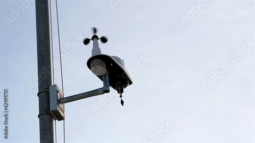 An anemometer getting the wind speed