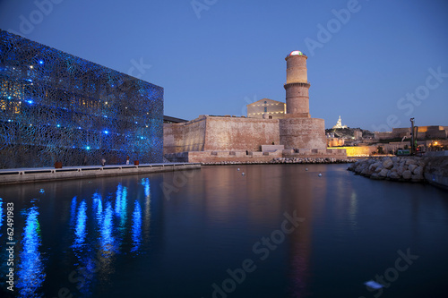 Fort Saint Jean and museum MuCEM in Marseille