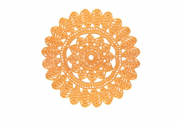 ornamental lace pattern isolated on white  background