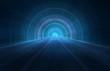 Leinwandbild Motiv 3D abstract futuristic background - Space travel - Teleport