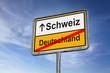 canvas print picture - Schweiz / Deutschland