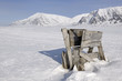 Old wooden trap for killing Polar bears at Spitsbergen.