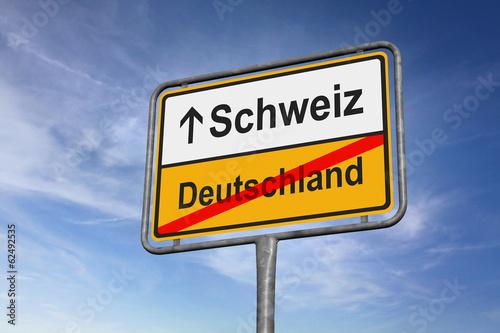 canvas print picture Schweiz / Deutschland