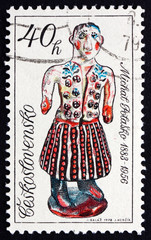 Postage stamp Czechoslovakia 1978 Woman in Folk Costume