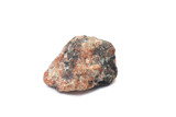 piece of raw red marble on a white background