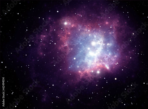 Purple space star nebula