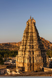 Virupaksha Temple at sunset, Hampi, Karnataka, India