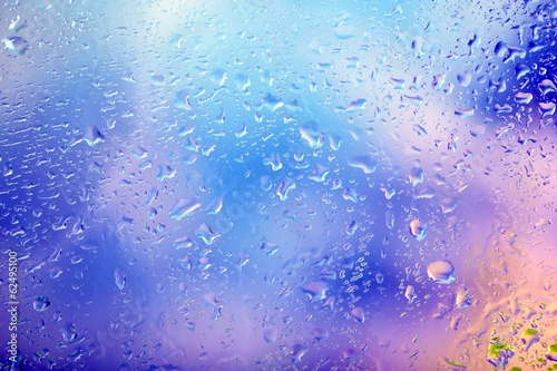 Glass with natural water drops