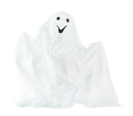 Halloween ghost, isolated on white
