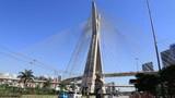 Marginal Pinheiros and the Octavio Frias Bridge in Sao Paulo poster