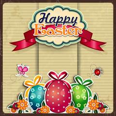 Easter eggs grunge