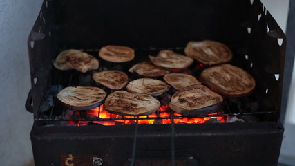 Grilled Aubergine on the Barbecue