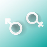 Venus and mars female and male symbol isolated