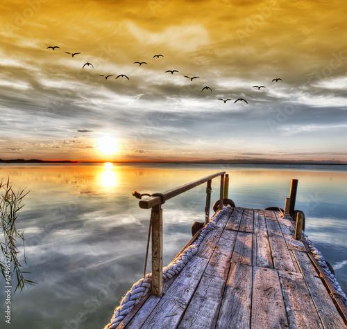 El lago de los sueños . HDR Plakat