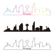 Khobar skyline linear style with rainbow
