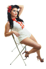 Elegant pin up girl