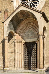 san Francesco church prothyrum, Lodi, Italy