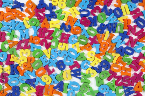 color plastic letters