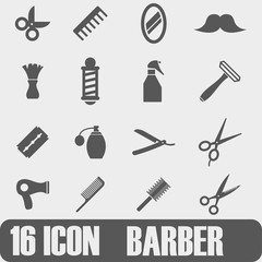 Vector  Icon Barber  On white background