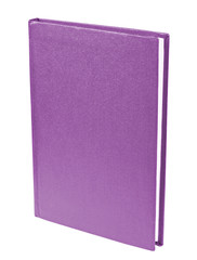 Purple book standing isolated