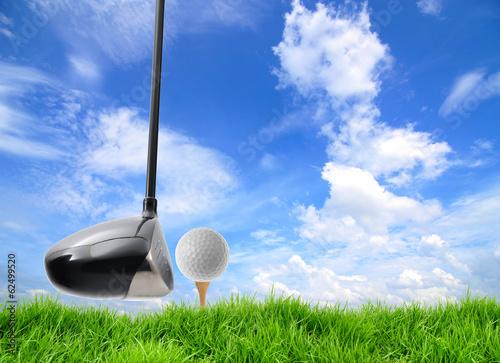 Fotobehang Golf golf tee off