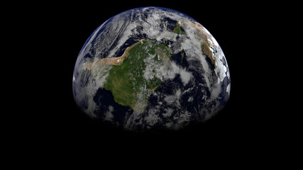 Americas - Gibbous Earth