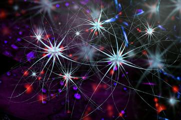Nerve cells - 3d Rendering