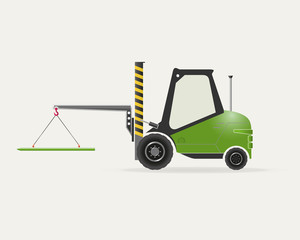 Forklift with crane