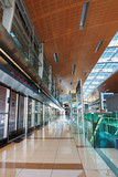 Interior metro station in Dubai UAE