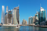 General view of the waterfront at Dubai Marina