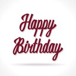 Happy birthday hand lettering. Vector