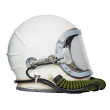 Vintage space helmet isolated on white background.