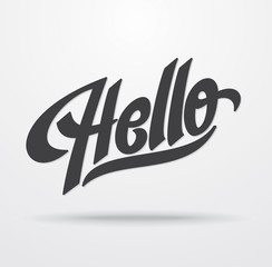 Hello hand lettering