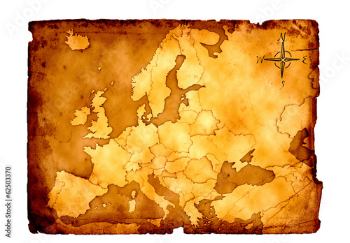 canvas print picture Europa Schatzkarte 3D