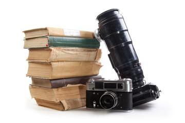 Camera and book