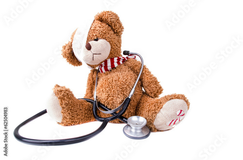 Teddy Bear with Bandage / Teddy Bear