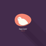 Happy Easter greeting card. Flat design