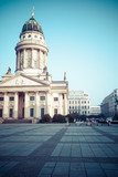 Gendarmenmarkt in Berlin.View-German Cathedral and Konzerthaus