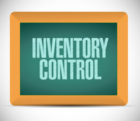 inventory control message on a chalkboard.