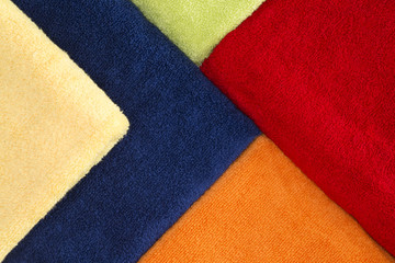 Beautiful background pattern of colorful towels