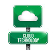 cloud technology sign illustration design