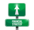 financial strategy sign illustration design