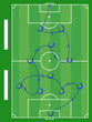 soccer play diagram instruction illustration