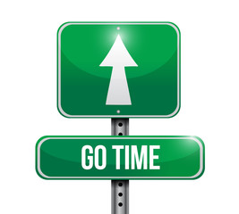 go time sign illustration design