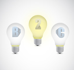 business two customer light bulb illustration