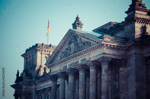 The Reichstag building seat of German parliament,Berlin,Germany