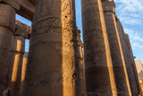 Luxor Temple columns with hieroglyphs
